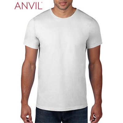 Anvil Adult Black Tee White